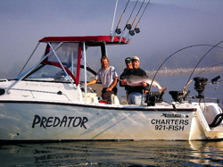 Predator Charters Boat - Showing Off Another Prize Catch